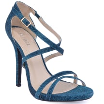 Crossed Sandals With Size Buckle | Blue