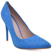 Positive Pointed Court Shoes | Blue
