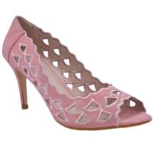 Open Toe Mid Heels - Pink