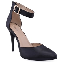 Two Part High Heeled Court Shoe | Black