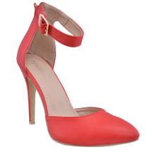 Ankle Strap Court Shoes | Red