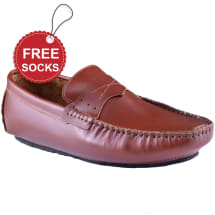 Men's Leather Strap Slip-on Loafer | Coffee