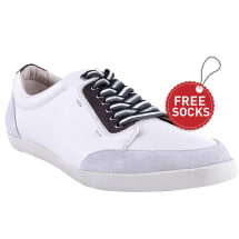 Leather Lace-up Plimsolls | White