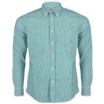 Men's Awning Striped Long Sleeve Button Down Shirt | Green & White