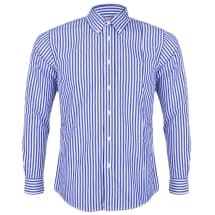 Men's Awning Striped Long Sleeve Button Down Shirt | Blue & White