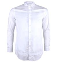 Button-Down Collar Long Sleeve Casual Shirt | White