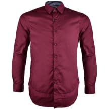 Button-Down Collar Long Sleeve Casual Shirt | Lava Red