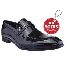 Patent Strap Slip-on Venetian Shoe | Black