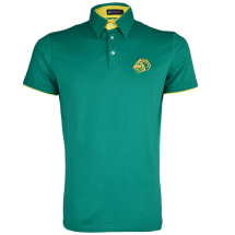 Tab Collar Tipped Short Sleeve Polo | Green
