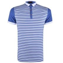 Striped Contrast Men's Polo Shirt | Dark Blue