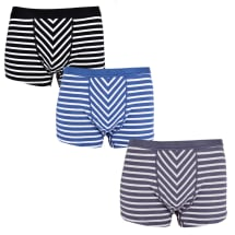 3 Pack Stripped Brief | Multicolour