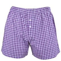 Checked Patterned Boxer Shorts | Purple