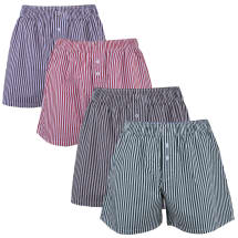 4 Pack Striped Patterned  Boxer Shorts | Multicolour