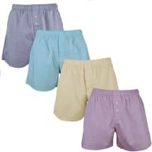 4 Pack Plain Patterend Boxer Shorts | Multicolour