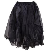 Full Organza Midi Skirt | Black
