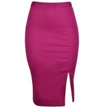 Tasha Pencil Skirt with Side Slit | Pink