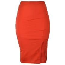 Tasha Pencil Skirt with Side Slit | Burnt Orange