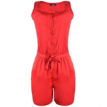 Marla Sleeveless Playsuit - Red