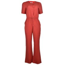 Short Sleeve Jumpsuit | Red