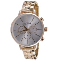 Sleek Watch with Silver Dial - Gold