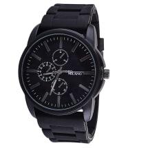 Black Silicone Bracelet Watch