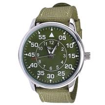 Extra Large Silver & Khaki Men's Watch