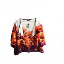 Multicolour Chiffon Bolero Jacket