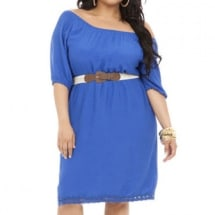 Peasant Detail Belted Gauze Dress