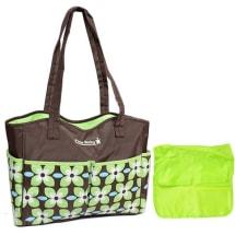 Trendy 2 Piece Tote Diaper Bag