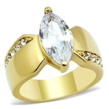IP Gold AAA Grade CZ Engagement Ring GL102