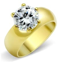IP Gold AAA Grade CZ Engagement Ring GL073