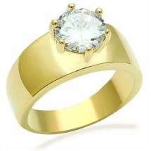 IP Gold AAA Grade CZ Engagement Ring  GL078