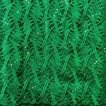 Chord Lace With Stones   Green   5 Yards