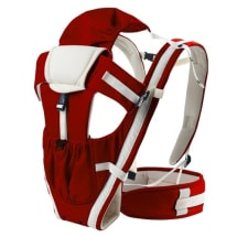 Bethbear 4-In-1 Premium Breathable Multifunctional Baby Carrier With Cap - Wine