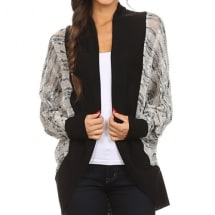 Black Dolman Open Cardigan