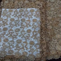 Champagne Gold Guipure Lace