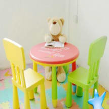 Children's Plastic Table & Chairs