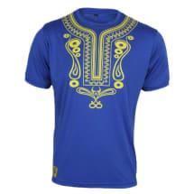 Chiroma Banks Tribal Tee - Blue & Yellow