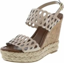 Chop Out Wedge Sandals