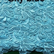 Chord Lace   Sky Blue -5 Yards