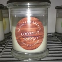 Coconut Mango Soy Scented Candles