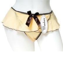 Cream Cheerleader Thongs