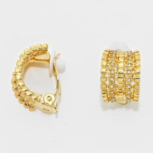 Crystal Accented Clip On Earring