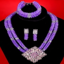 Crystal Knitted Beads - Purple