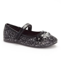 Dunlin Sequinned Ballet Flats | Black