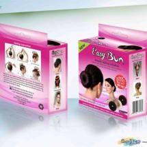 Easy Bun Doughnut Shaper Hair Accessory - Black - Big Size