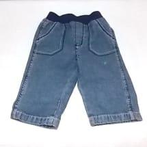 Elastic Waist Side Pocket Jean - Blue