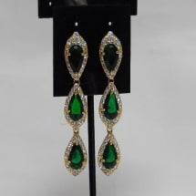 Emerald 3 Step Earring