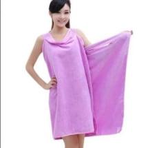 Female Body Wrap / Bath Robe - Towel Purple