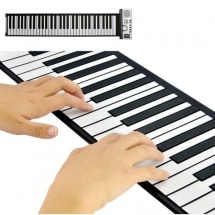 Flexible Piano Roll Up Digital Electronic Keyboard with USB and Recording Function
